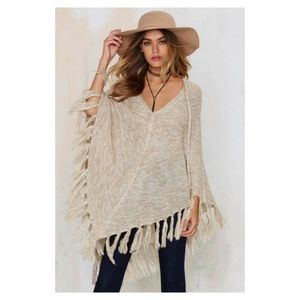 Nasty Gal Knitflix and Chill Poncho - Size Small